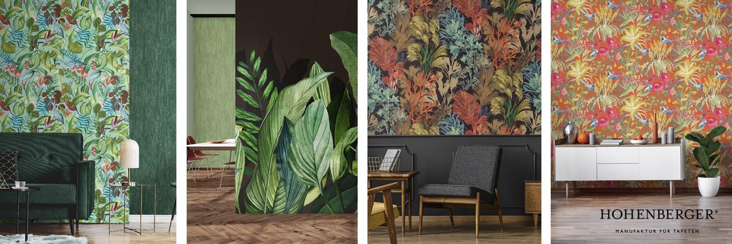 Флористический сюрреализм в обоях и панно Tropical от Hohenberger