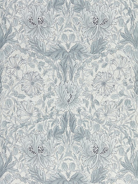 Обои Morris Pure North Pure Honeysuckle & Tulip Cloud Grey 216524 (0,686*10,05)