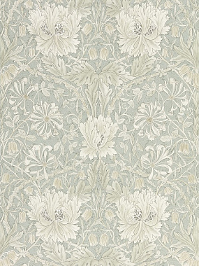 Обои Morris Pure North Pure Honeysuckle & Tulip Grey Blue 216525 (0,686*10,05)