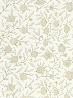 Обои Morris Pure North Pure Fruit Horned Poppy/Grey 216542 (0,686*10,05)